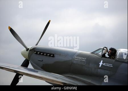 Spitfire 80th anniversary event at Southampton Airport - Stock Photo
