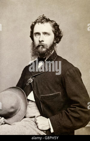 Fitz Hugh Ludlow (1836-1870) American writer and explorer who wrote 'The Hasheesh Eater' an autobiographical book - Stock Photo