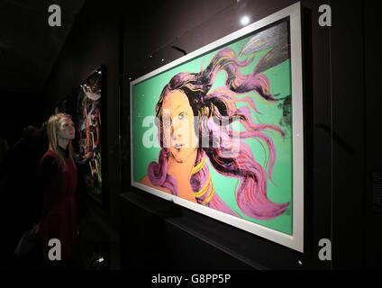 Botticelli Reimagined exhibition preview - Stock Photo