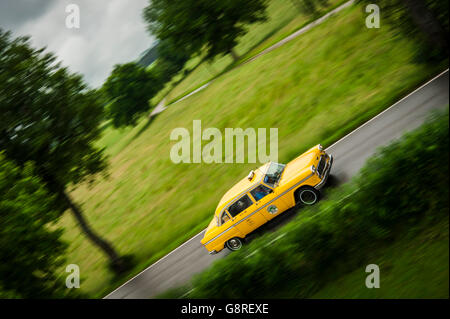 Classic Cecker Cab Taxi on the Road - Stock Photo