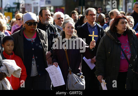 Good Friday March of Witness - Stock Photo