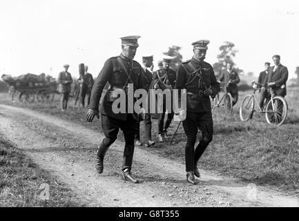 King George V and Sir William Robertson - Aldershot - Stock Photo