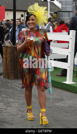 Ladies Day - Crabbie's Grand National Festival - Aintree Racecourse - Stock Photo