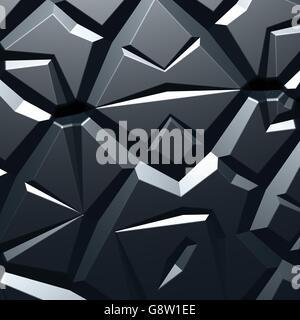A 3d fractal of a recursive cracked surface.