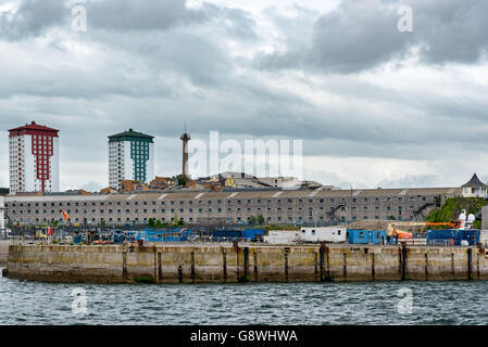 The Ropewalk in Devonport Dockyard, Plymouth.  Formerly used for the manufacture of ropes for Naval Ships. Stock Photo