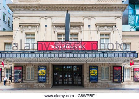The Royal Alexandra Theatre is a theatre on a sunny bright spring day. The 1,497-seat Royal Alex is the oldest continuously - Stock Photo