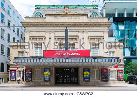 The Royal Alexandra Theater is a theater on a sunny bright spring day. The 1,497-seat Royal Alex is the oldest continuously - Stock Photo