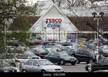 CITY Tesco - Stock Photo