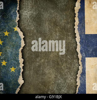 Finland withdrawal from European union fixit concept - Stock Photo