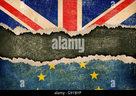 Great Britain withdrawal from European union brexit concept - Stock Photo