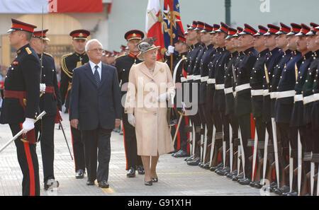 Royalty - Queen Elizabeth II Visit to Malta - Stock Photo