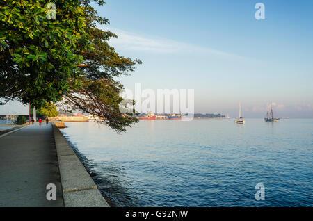 central dili city seaside promenade in east timor - Stock Photo