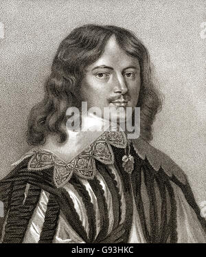 Lucius Cary, 2nd Viscount Falkland, 1610-1643, an English author and politician - Stock Photo