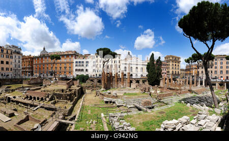 Rome, Italy. Largo di Torre Argentina panoramic image. Picture by Paul Heyes, Wednesday June 01, 2016.  Rome, Italy. - Stock Photo