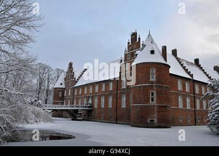 Moated Castle, Schlosspark Herten, Herten, North Rhine-Westphalia, Germany - Stock Photo