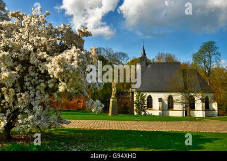 Chapel, moated Castle Herten, North Rhine-Westphalia, Germany - Stock Photo