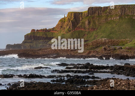 The Giants Causeway in County Antrim in Northern Ireland. A UNESCO World Heritage Site. - Stock Photo