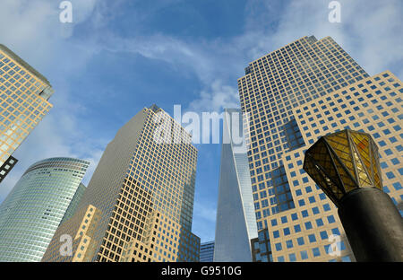The new World Trade Center complex in Lower Manhattan, New York City, U.S.A. One World Trade Center, more simply - Stock Photo