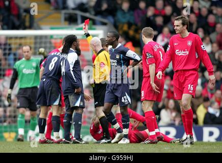 Soccer - FA Barclays Premiership - Liverpool v Manchester City - Anfield - Stock Photo
