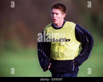 Soccer - FA Carling Premiership - Wimbledon Training - Stock Photo