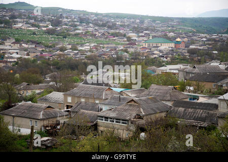 Kazanis is the small village which is Kumyks Turks lived in. This photo taken top of the city on May, 10 2015. - Stock Photo