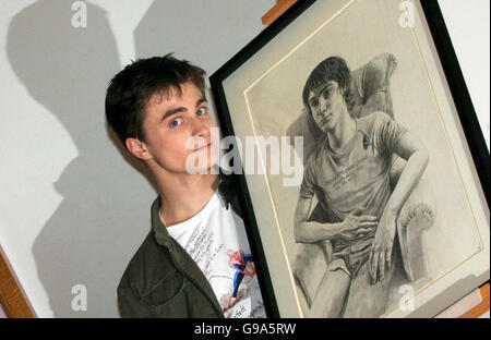 Harry Potter at National Portrait Gallery in central London - Stock Photo