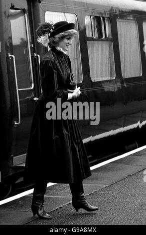 Prince and Princess of Wales Royal Visit - Stock Photo