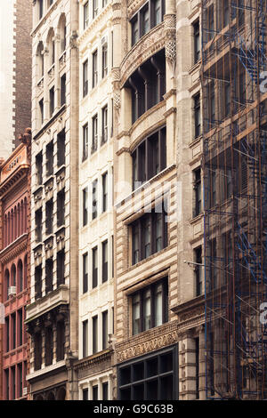 City Apartment Buildings typical new york city apartment building with fire escapes on the