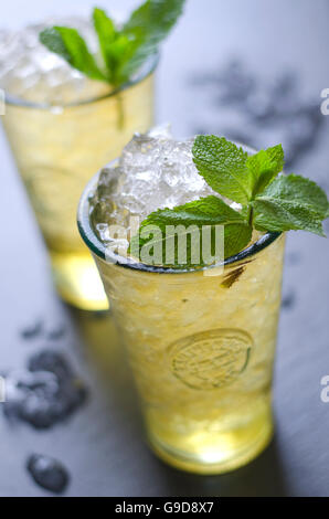 Freshly made mojito cocktail in a glass - Stock Photo