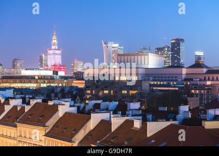 Warsaw, Poland - April 10, 2015. Poland remembers Smolensk air crash five years ago. - Stock Photo