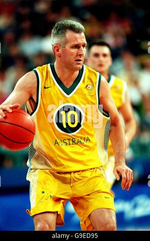 Sydney 2000 Olympics - Basketball - Australia v Yugoslavia - Stock Photo