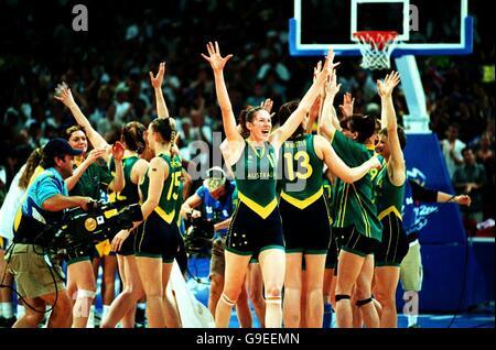 Sydney 2000 Olympics -Women's Basketball - Australia v Brazil - Stock Photo