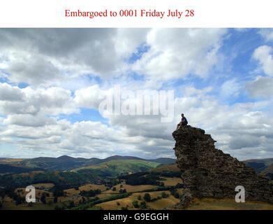 Welsh skies 'among world's best views' - Stock Photo