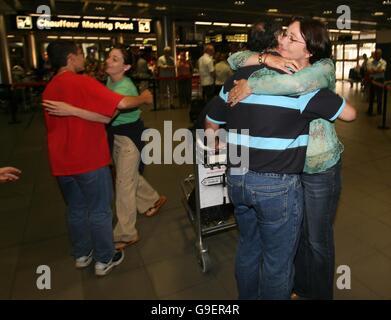 Lebanon evacuees from Ireland - Stock Photo