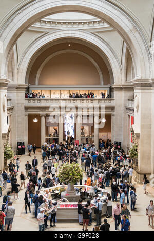 Great Hall at the Metropolitan Museum of Art, NYC, USA - Stock Photo