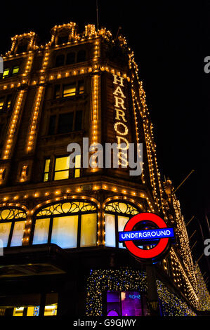 Harrod's department store in London - Stock Photo