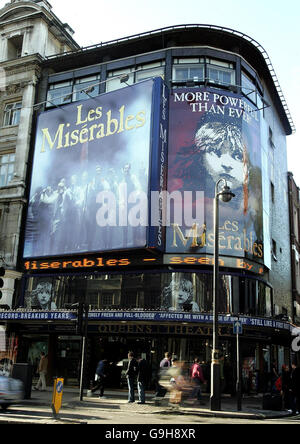 Woman watches Les Miserables 738 times - Stock Photo