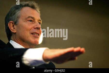 Prime Minister Tony Blair Visits Sports Facility - Stock Photo