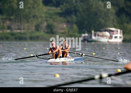 Rowing - Olympic Games Barcelona '92 - Coxless Pairs - Stock Photo