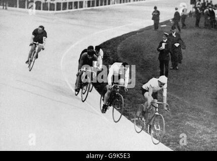 Cycling - London Olympic Games 1908 - 20km Track - Final - White City - Stock Photo
