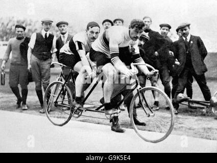 Cycling - London Olympic Games 1908 - 2000m Tandem - Final - White City - Stock Photo