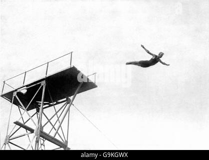 Diving - London Olympic Games 1908 - Highboard - White City - Stock Photo