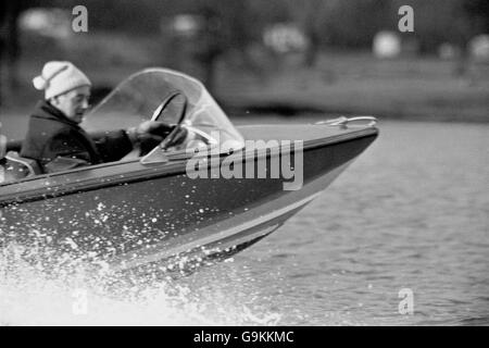 World Water Speed Record Attempt - Stock Photo