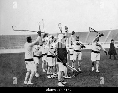 Lacrosse - London Olympic Games 1908 - Final - Great Britain v Canada - White City - Stock Photo