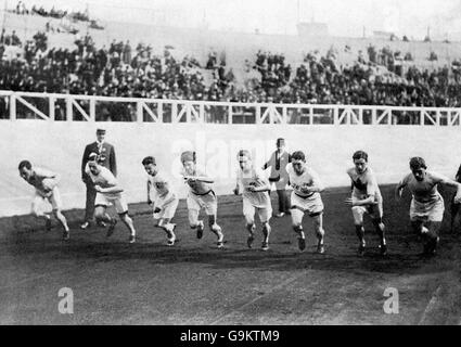 Athletics - London Olympic Games 1908 - 1500m - Final - White City - Stock Photo