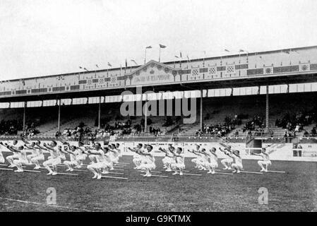 Gymnastics - London Olympic Games 1908 - Team Competition - White City - Stock Photo