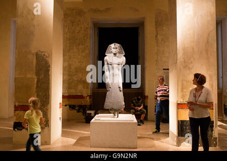 Sculpture of Pharaoh in a Neues Museum which is located in Museum Island. - Stock Photo