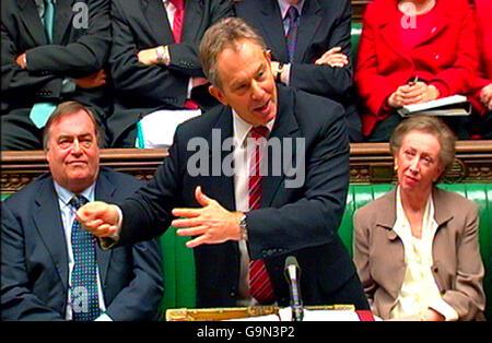 POLITICS PMQs_Blair - Stock Photo