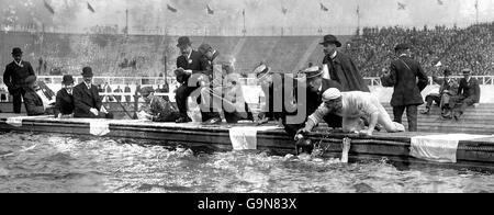Swimming - London Olympic Games 1908 - 200m Breaststroke - Final - White City - Stock Photo