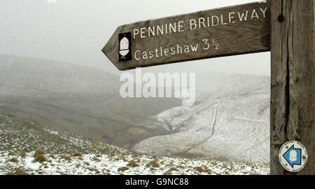 Snowfall in the UK - Stock Photo